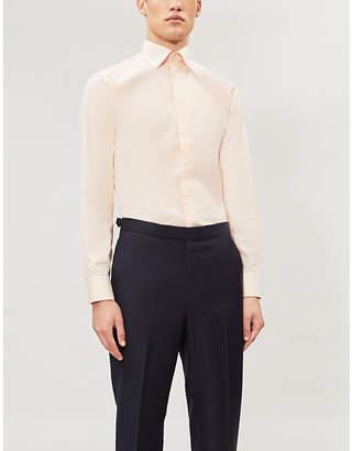Eton Slim-fit textured cotton-twill shirt
