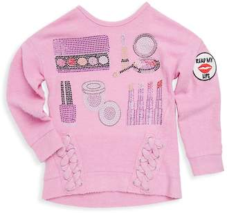 Butter Shoes Little Girl's Lace Fleece Pullover