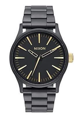 Nixon Sentry 38 SS A450-1041-00. Men's Watch (38mm Watch Case. 21-18mm Matte Black Stainless Steel Band)