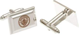 Manchester City Silver Plated Man City Crest Cufflinks.