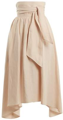 Apiece Apart - Cosmos Convertible Linen Blend Skirt - Womens - Nude