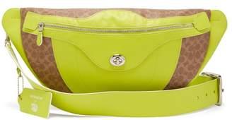 Coach Matty Bovan X Matty Bovan Xl Signature Canvas Belt Bag - Womens - Yellow Multi