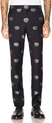 Burberry Crest Trousers in Midnight Blue | FWRD