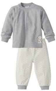 BORNINO Schlafanzug lang Baby-Pyjama Baby-Nachtwäsche NEU grau/weiß weiß/grau