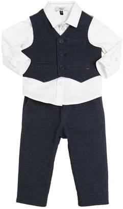 Armani Junior Cotton Shirt, Vest & Pants