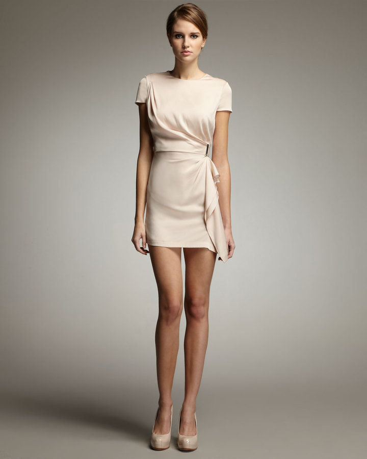 Diane von Furstenberg Alba Side-Drape Minidress