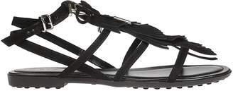 Shopstyle Straps Tod's Sandals Suede Women's wqxCz0