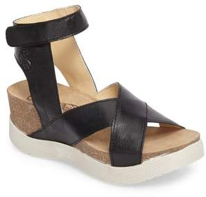 Fly London Weel Nubuck Leather Platform Sandal