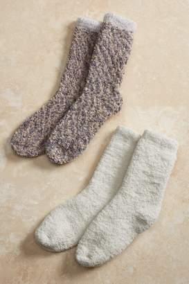 Soft Surroundings Cozy Bubble Crew Socks 2-Pack