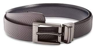 Ted Baker Hammok Herringbone Reversible Leather Belt