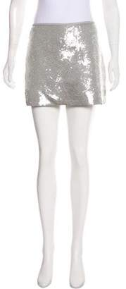 Theory Sequined Mini Skirt