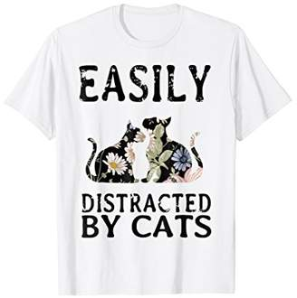 Easily distracted by cats shirt cat lovers gift
