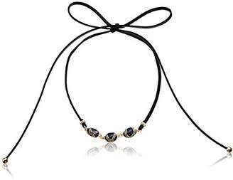 Laundry by Shelli Segal Enamel Bead Adjustable Choker Necklace