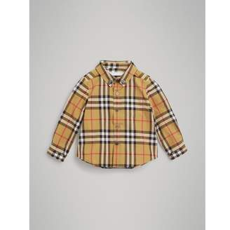 Burberry Button-down Collar Vintage Check Cotton Shirt , Size: 2Y