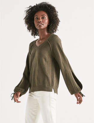 Lucky Brand TIE SLEEVE PULLOVER