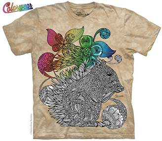 The Mountain Men's Colorwear Emaline Squirrel Adult Coloring T-Shirt