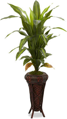 "Nearly Natural 57"" Dracaena Real Touch Artificial Plant in Stand"
