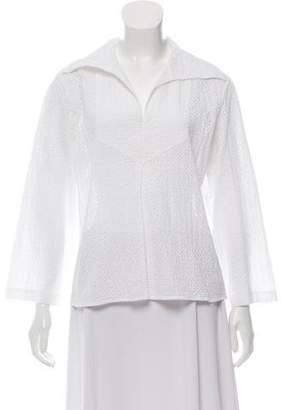 Chanel Collared Lace Top