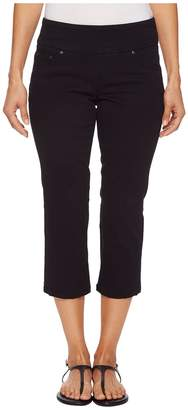Jag Jeans Petite Petite Peri Straight Pull-On Twill Crop in Black Women's Jeans