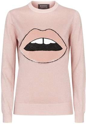 Markus Lupfer Mia Lara Lip Lurex Sweater