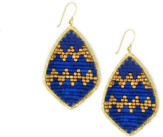 Nakamol Blue Beaded Earrings