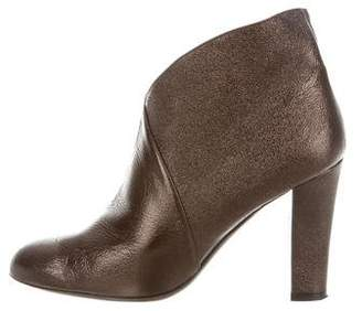 Judith Leiber Metallic Ankle Boots
