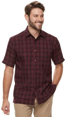 Haggar Men's Classic-Fit Microfiber Button-Down Shirt