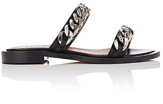 Givenchy Women's Chain-Embellished Leather Slide Sandals