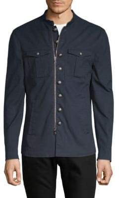 John Varvatos Front Zip Cotton Jacket