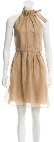Burberry Burberry Pleated Knee-Length Dress