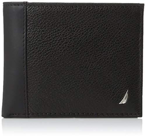 Nautica Men's Milled Leather Passcase Wallet