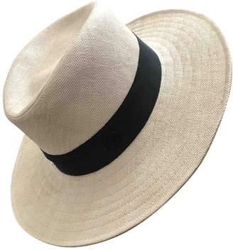 Maison Michel Beige Wicker Hat