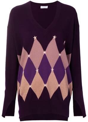 Ballantyne cashmere argyle print sweater