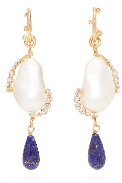 Givenchy Faux Pearl And Crystal Drop Earrings - Womens - Pearl