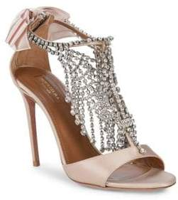 Aquazzura Embellished T-Strap Sandals