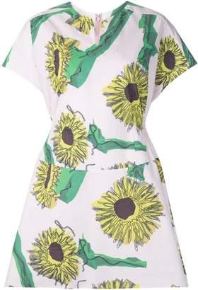 Julien David sunflower print day dress