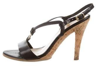 KORS Leather Ankle Strap Sandals