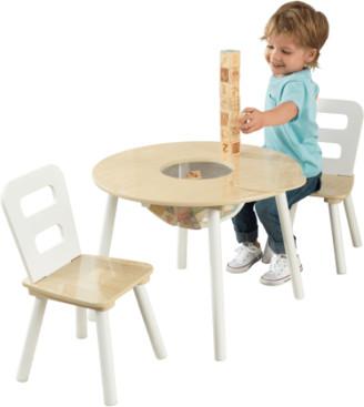Kid Kraft Round Storage Table & 2 Chair Set, Multiple Colors