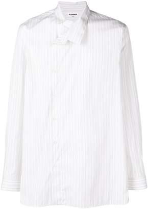 Jil Sander asymmetric striped shirt