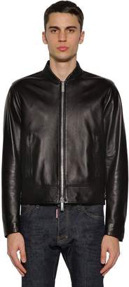 DSQUARED2 Zip-up Leather Bomber Jacket