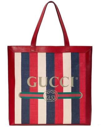 Gucci Print large tote