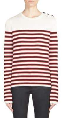 Saint Laurent Wool Striped Knit Pullover