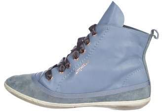 Repetto Leather High-Top Sneakers
