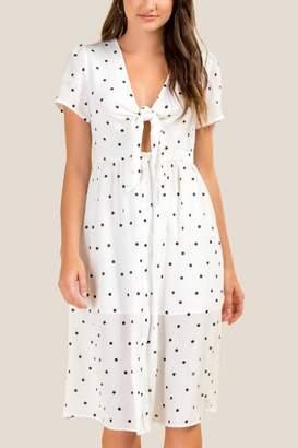 francesca's Emilia Polka Dot Shift Dress - White