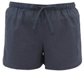 Derek Rose Plaza Polka Dot Cotton Pyjama Shorts - Womens - Navy
