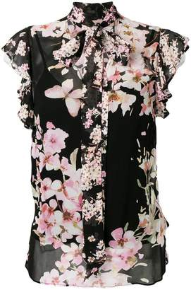 Twin-Set floral sheer blouse