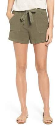Matty M Belted Linen Blend Shorts