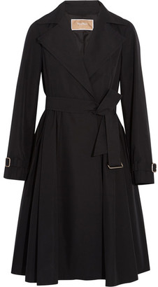 Max Mara - Pleated Shell Trench Coat - Black $1,390 thestylecure.com
