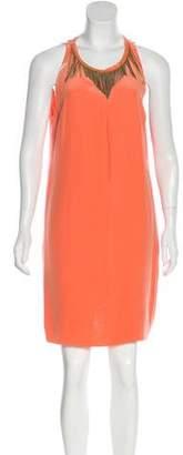 Versace Silk Embellished Dress