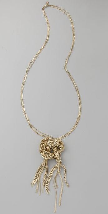 Citrine By The Stones Strangler Pendant Necklace